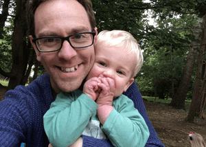 Nottingham wedding photographer and his son Edward