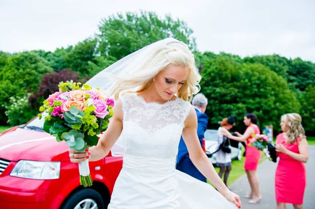 The bride going to the church