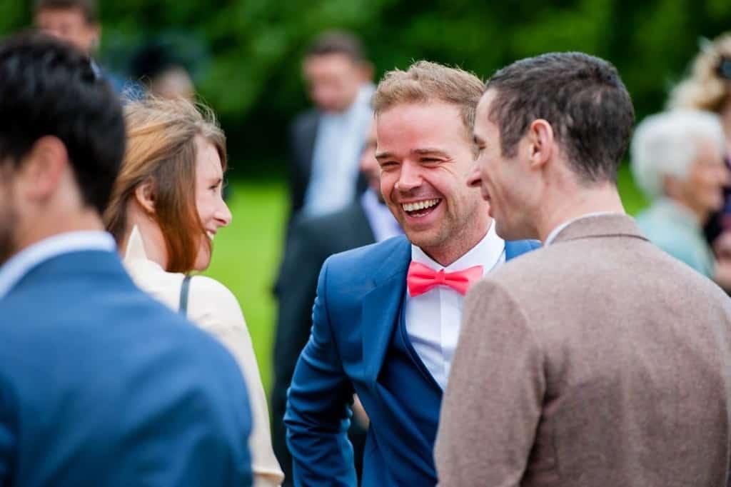 The groom at his wedding in Rutland wedding photographer