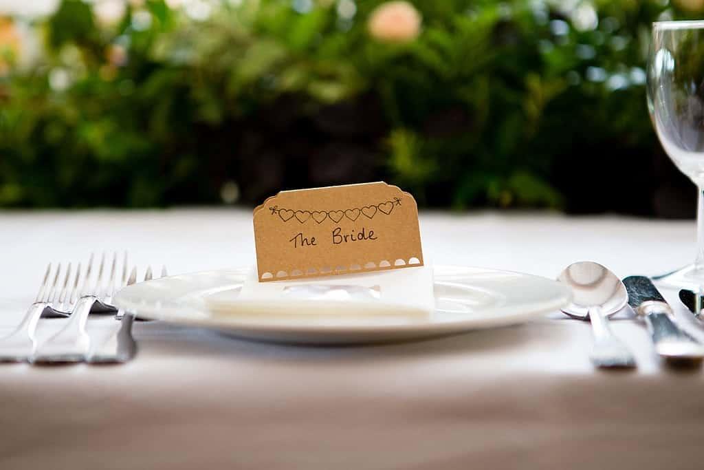 Bride table wedding decoration
