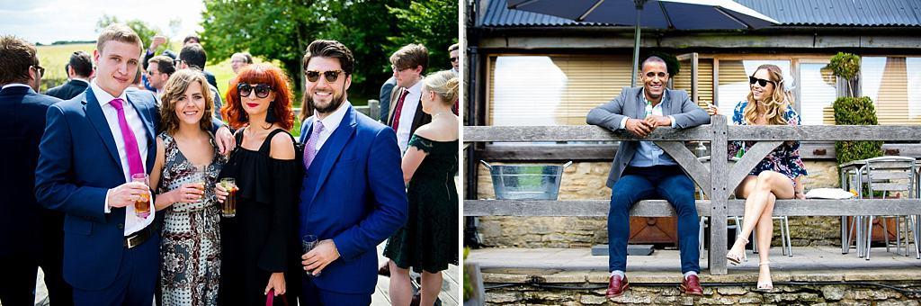 wedding guests at Cripps Barn