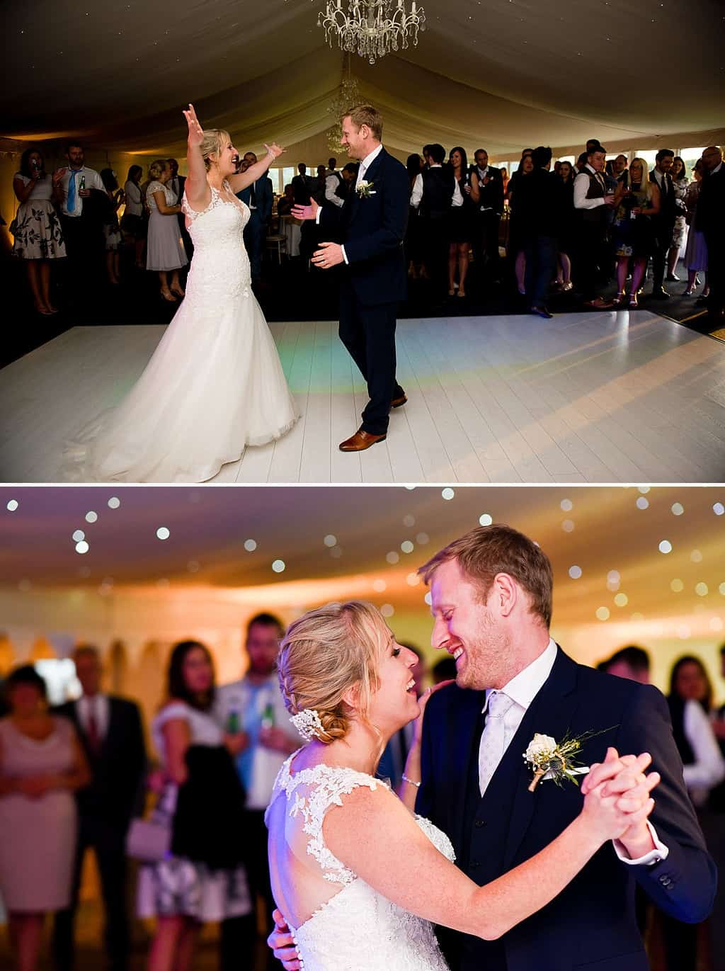Bride and groom first dance at Shottle Hall