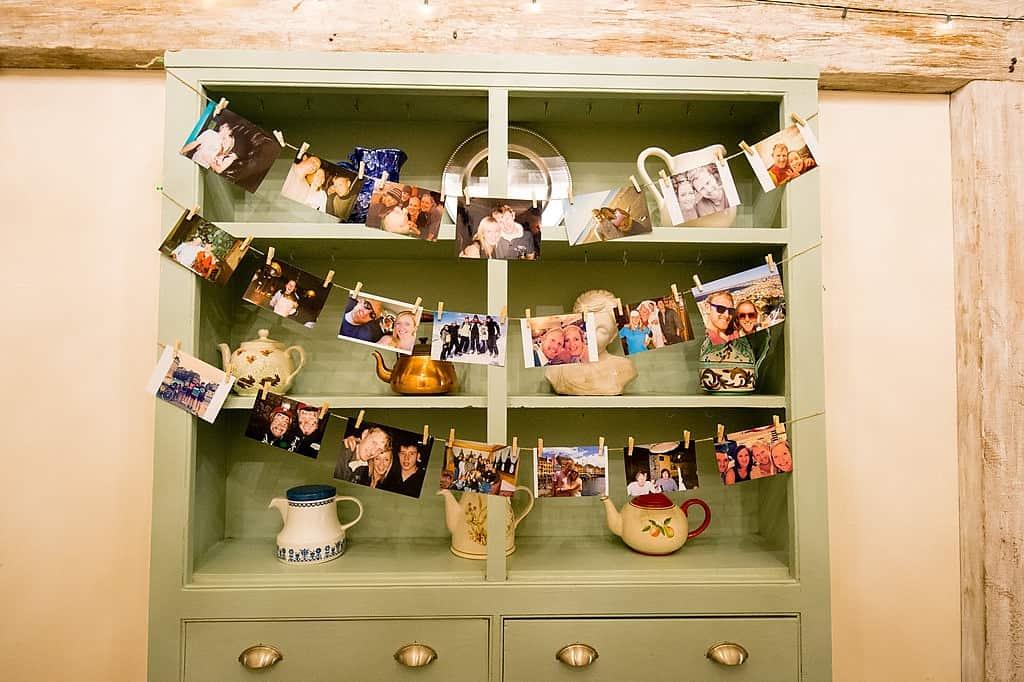 Wedding memory display of photos