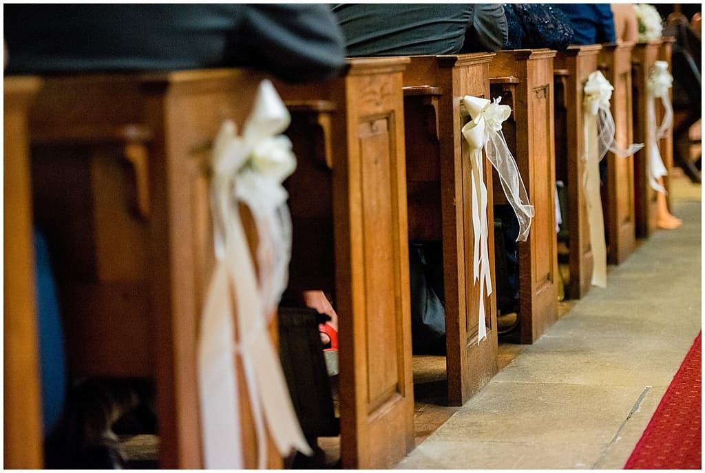 Church wedding details