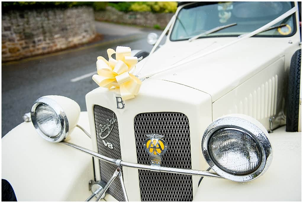 White Bentley Wedding car