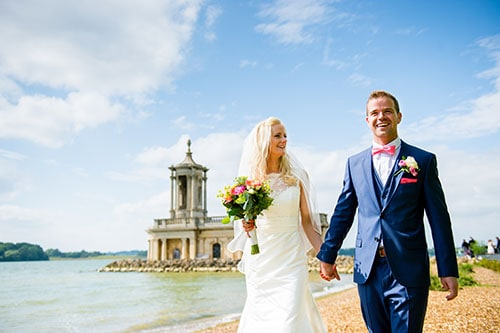 photo of rutlandwater bride and groom