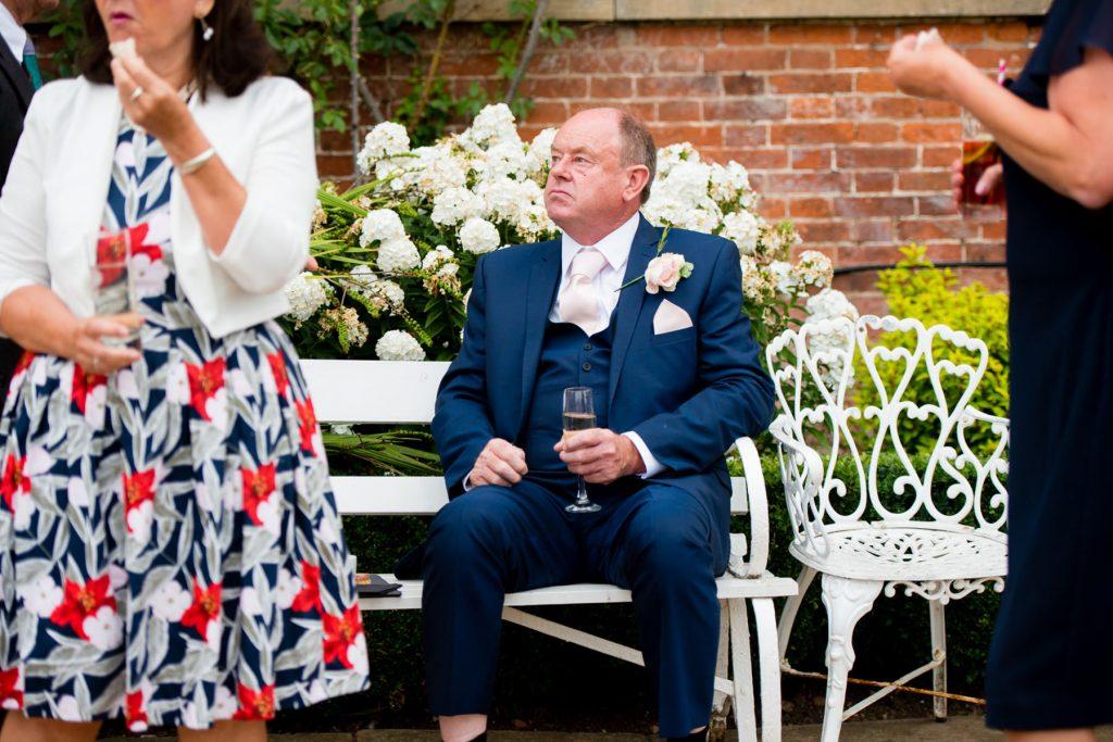 Guests at wedding drinking