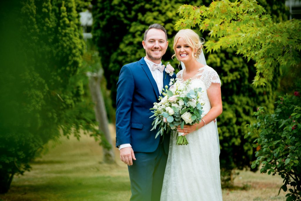 Portrait of Wedding couple in Nottingham