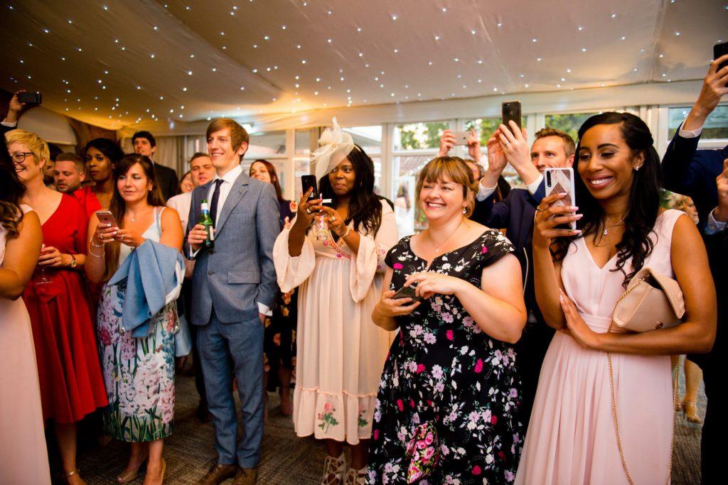Guests at Reception at a wedding
