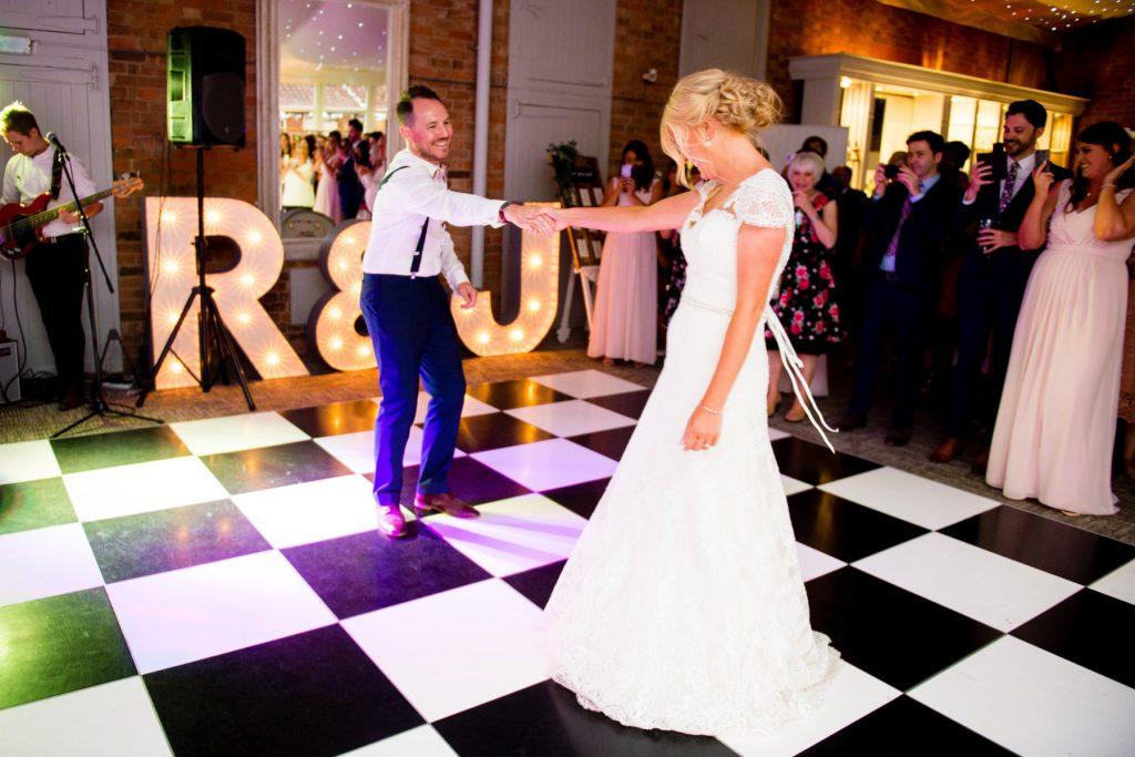 First dance Norwood Park wedding photographer