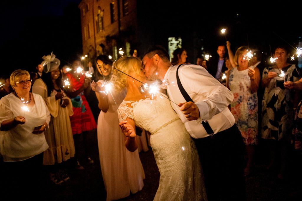 Bride and Groom's sparkler shot