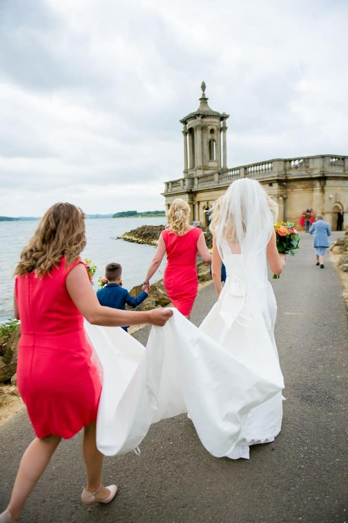 The wedding day church