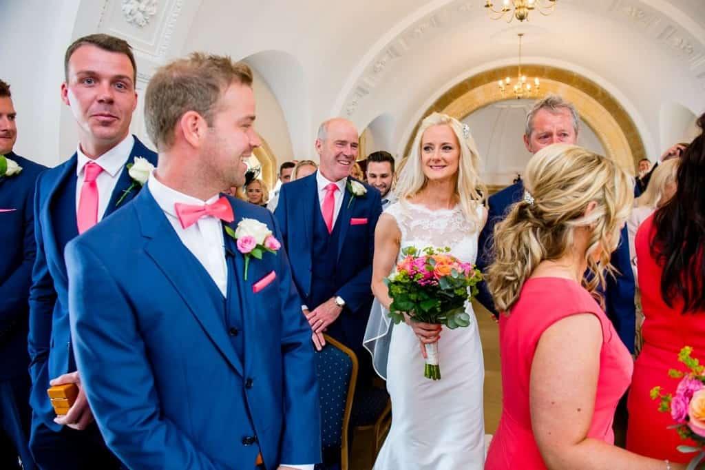 The first look at teh bride in the Rutland church