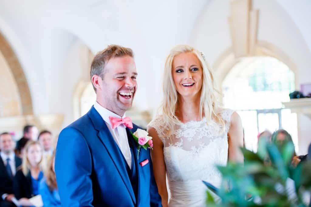 The happy wedding couple
