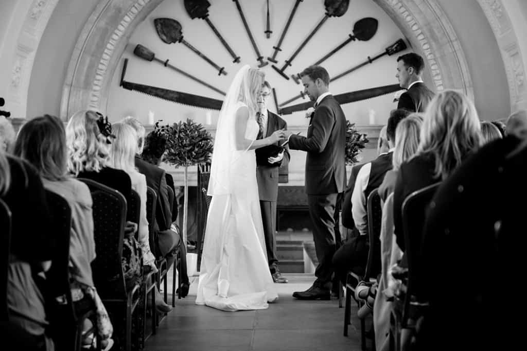 Exchanging of the rings in the church