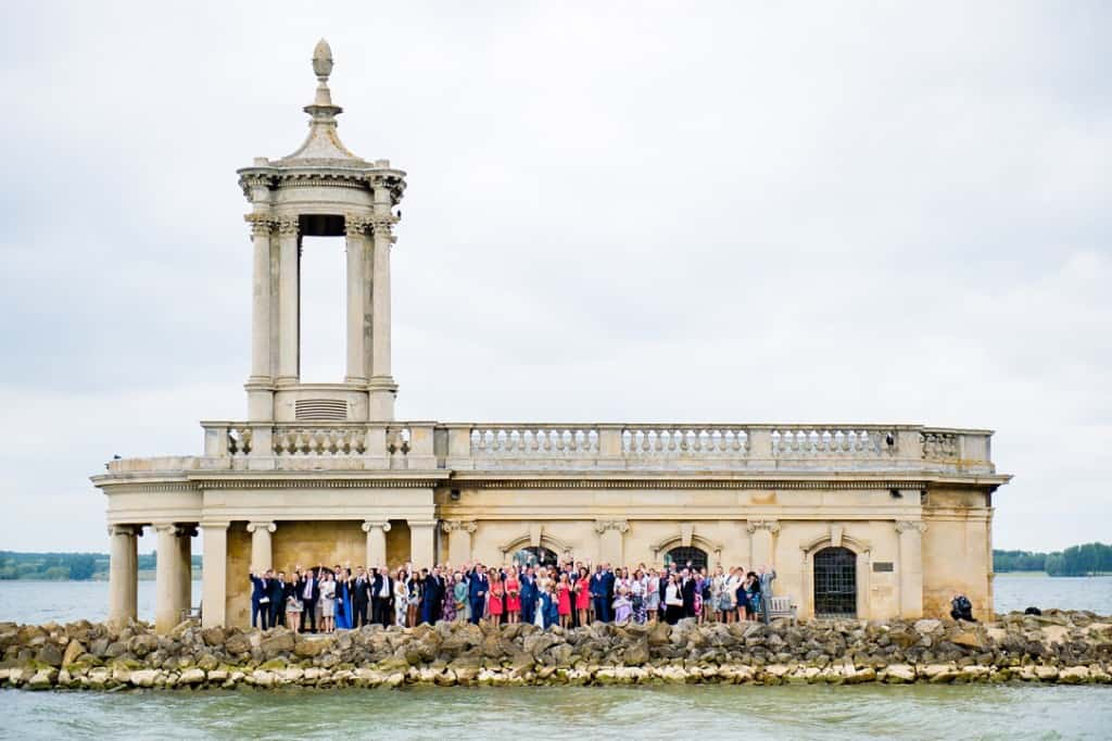 The wedding group shot out side Normanton Church