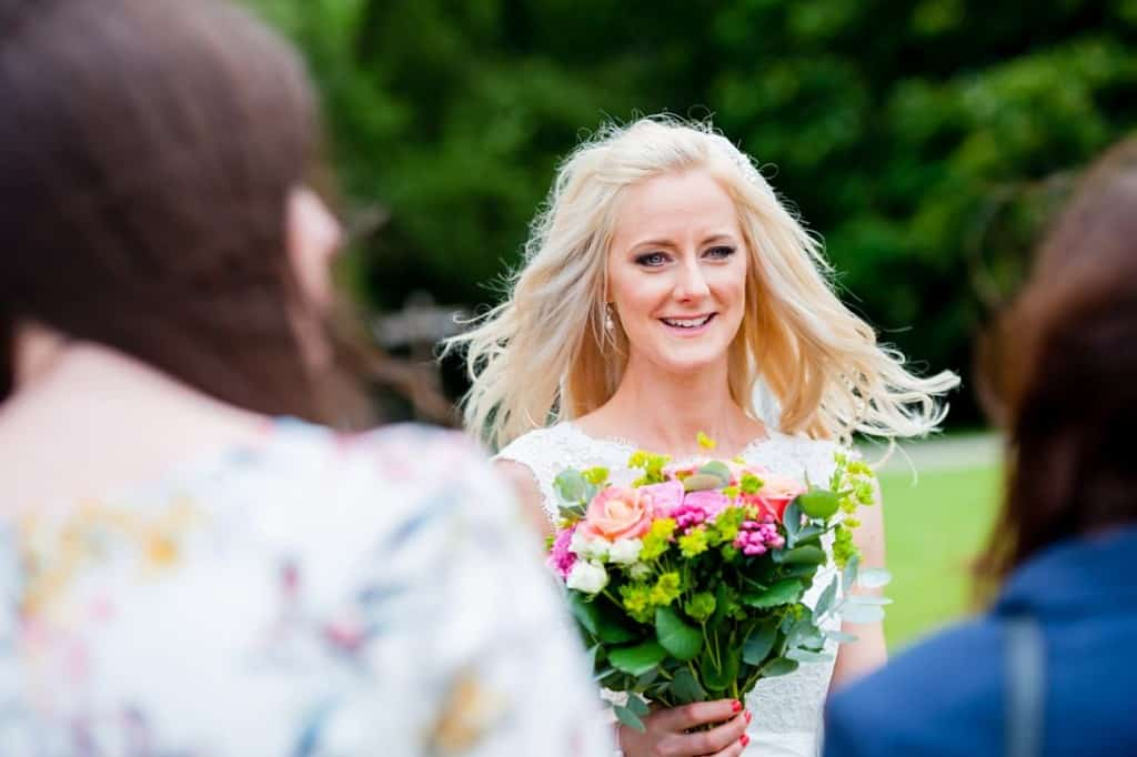 The beautiful bride at her wedding in Rutland