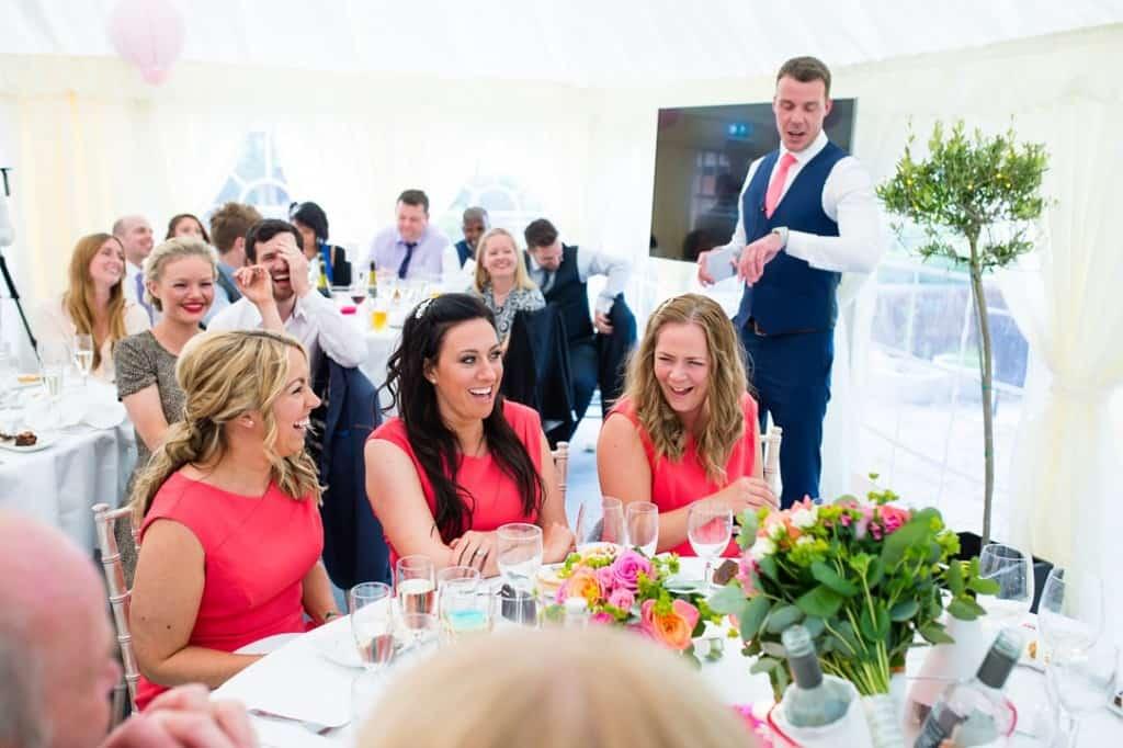 The best mans speech at the wedding in Rutland water