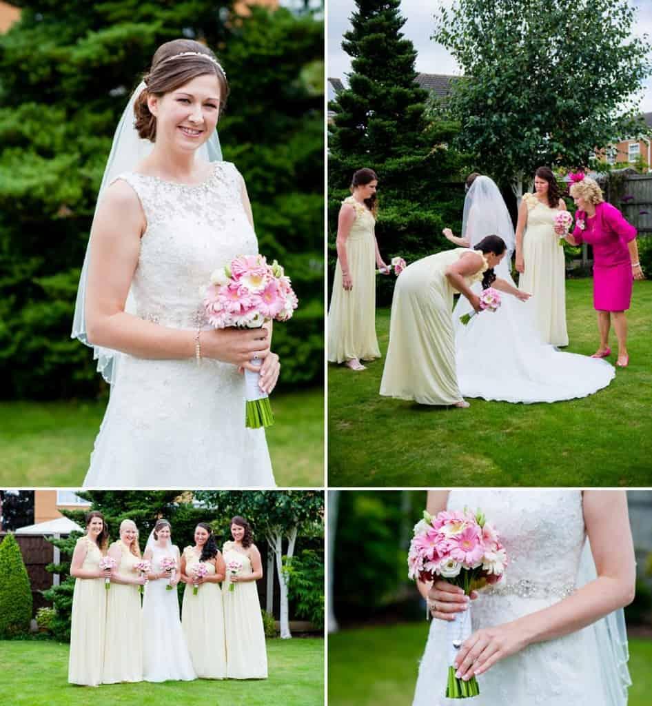 The Bride getting ready for her wedding at Sawncar Farm in Nottingham