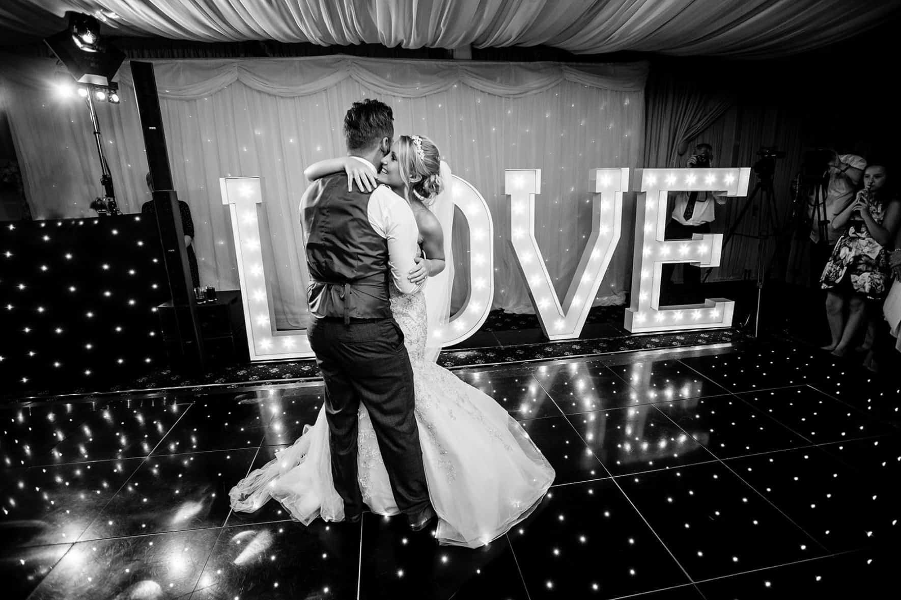 Bride and Groom dancing at a Nottingham Wedding