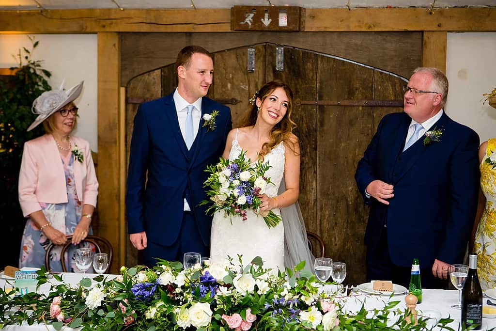 Wedding speeches at Cripps Barn