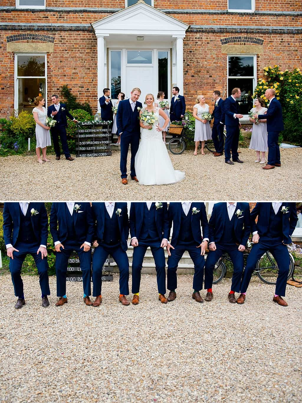 Wedding party at shottle hall