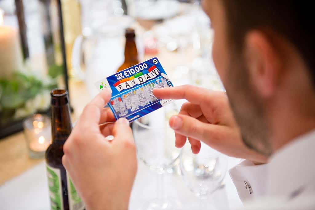 Scratch card wedding favour