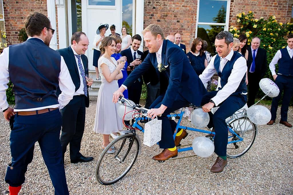 Tandem bike wedding gift