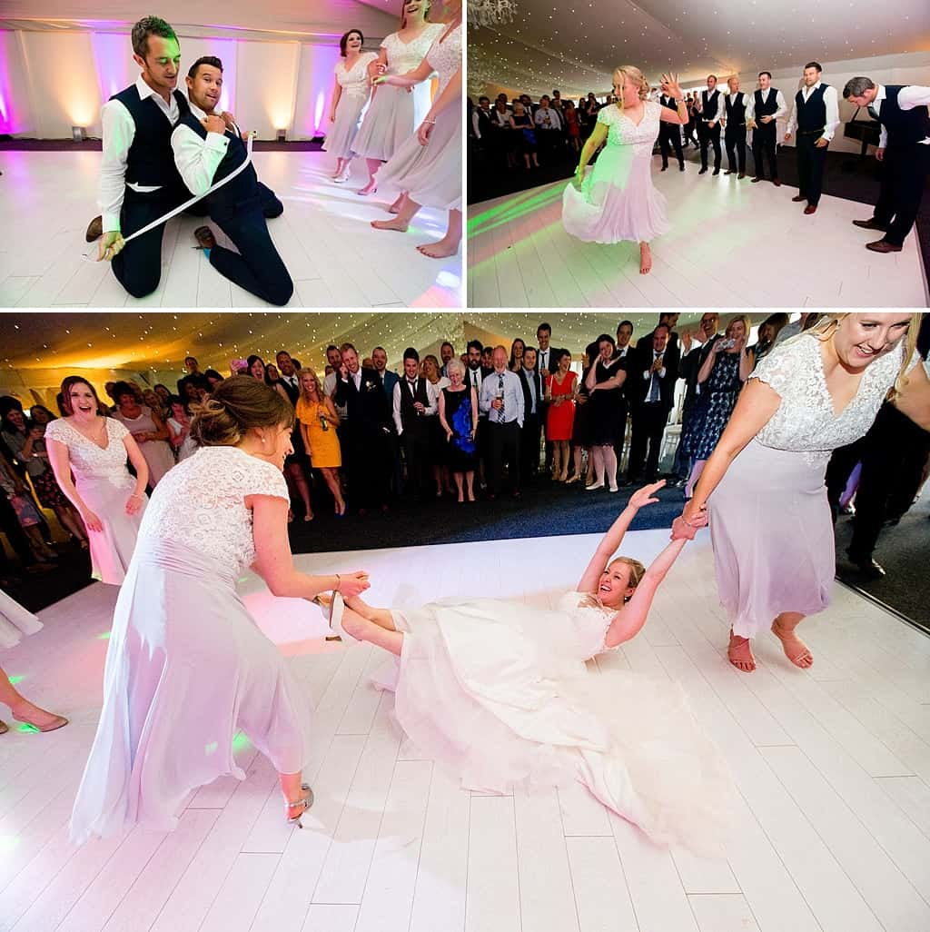 Wedding dance floor at Shottle Hall