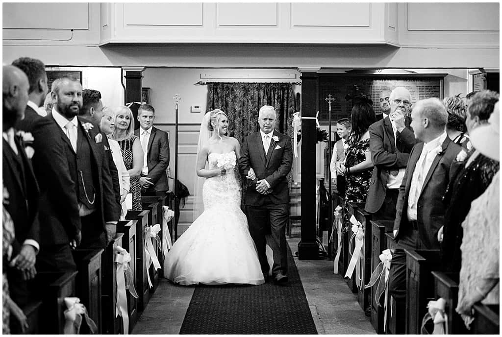 Walking down the aisle at St Mary's church