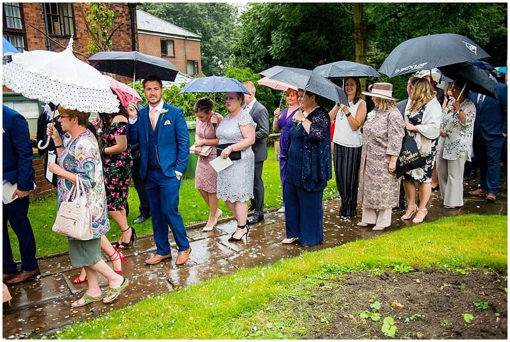 Rainy wedding in nottingham