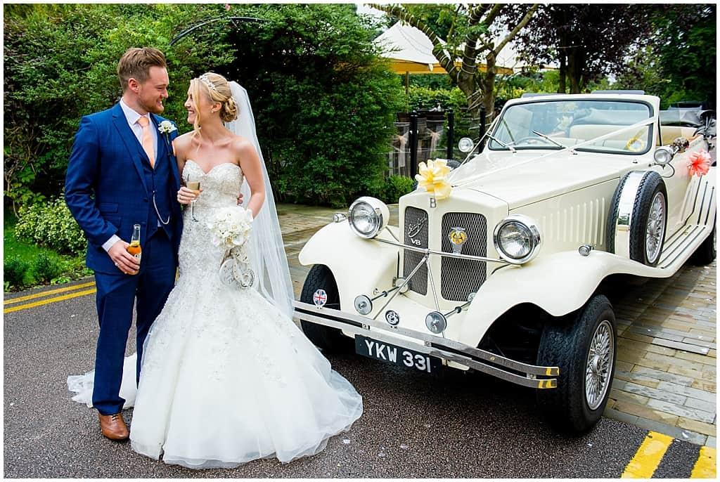 Nottingham White Bentley Wedding car