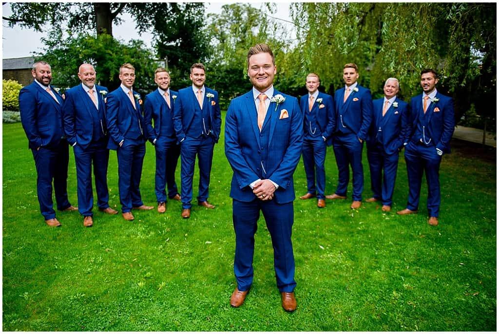 Navy suits groomsmen