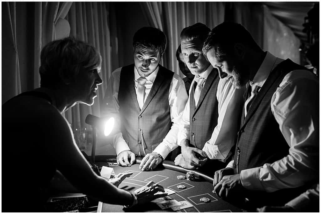 Poker games wedding