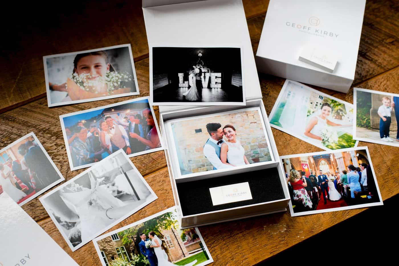 Nottingham wedding photographer photos and USB Box