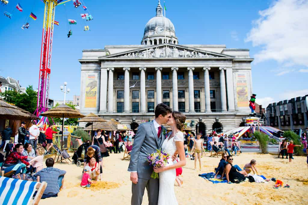 Nottingham market square wedding