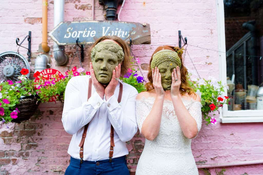 Alternative wedding Priory house