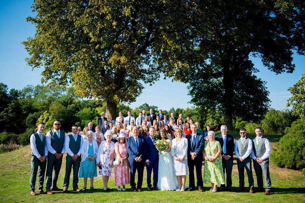 Stylish woodland wedding