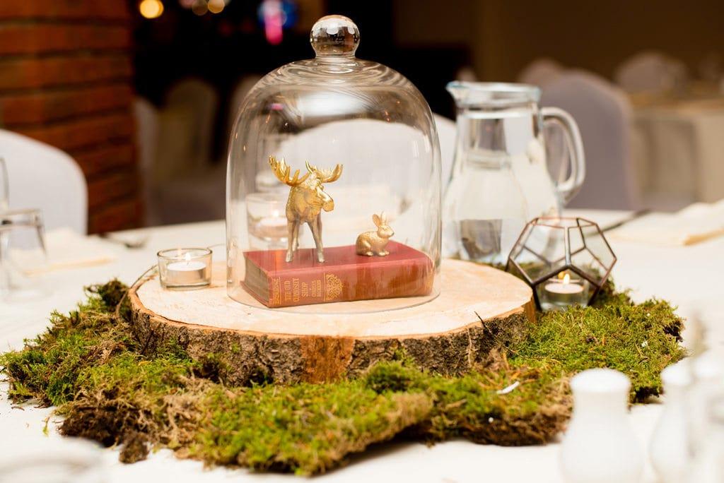 Gold theme woodland wedding