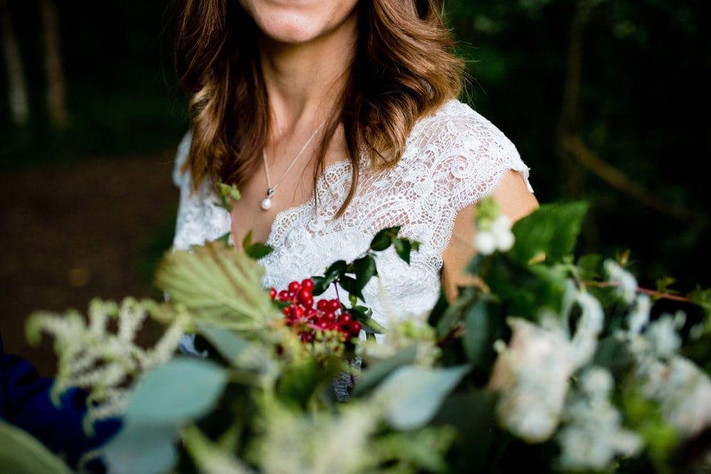 Green Cream wedding bouquet