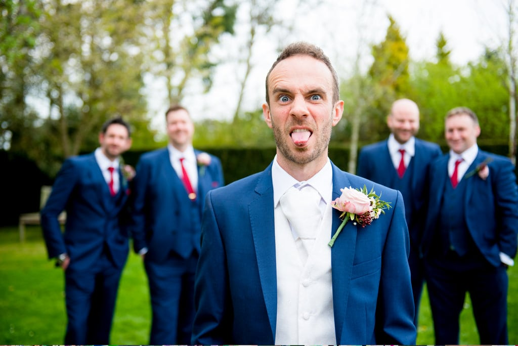 Groom shot