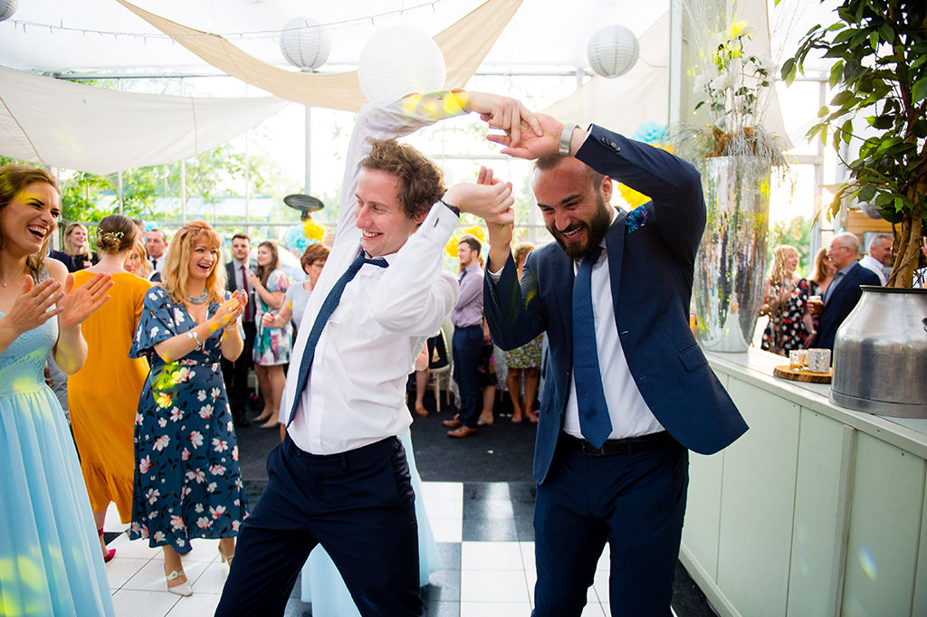 Fun dance floor wedding