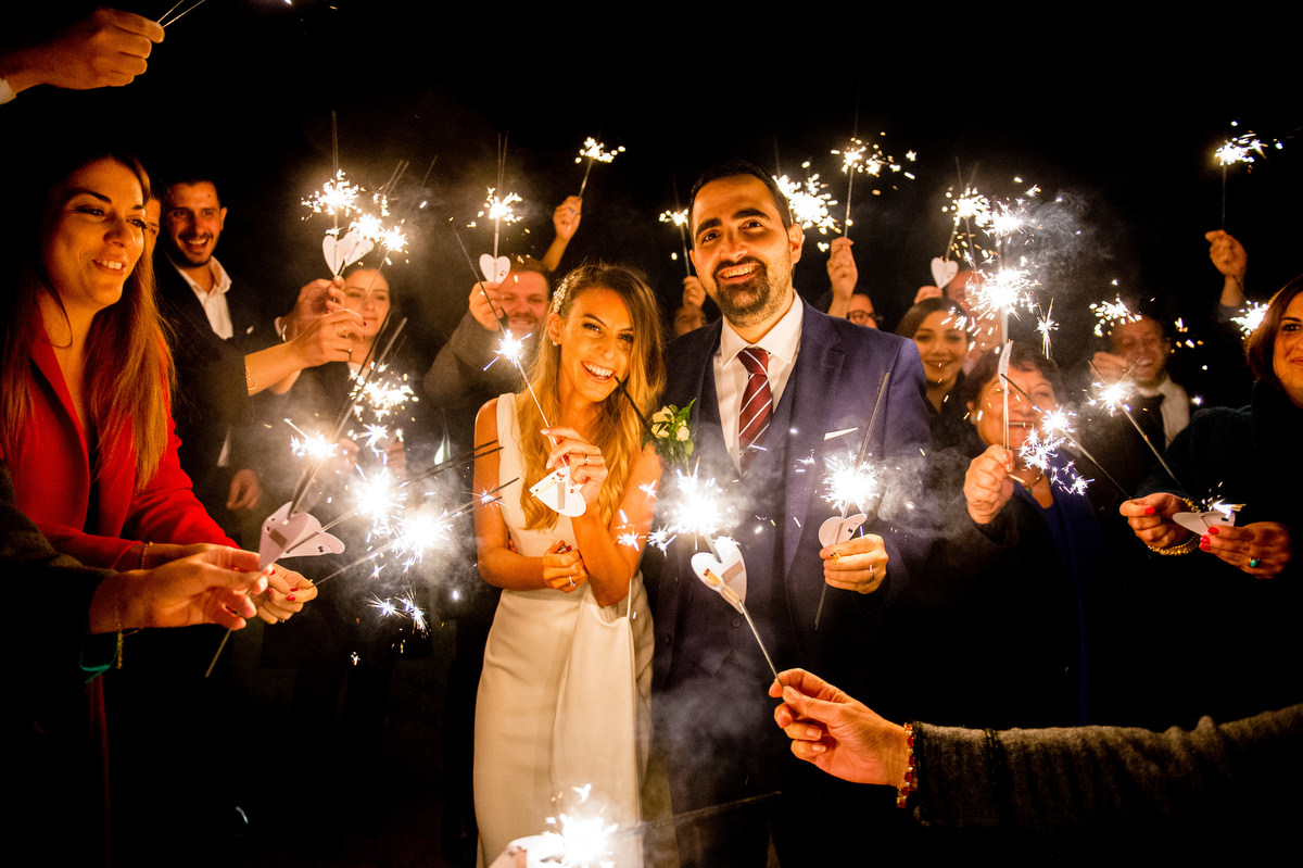 Nottingham wedding sparklers